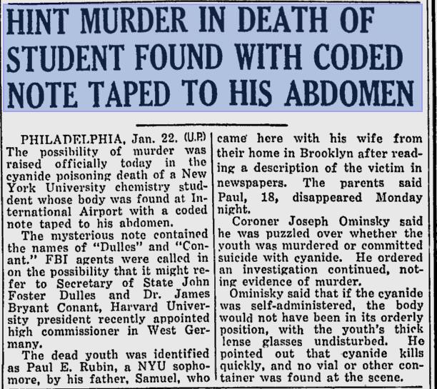 Rubin-The-Times-News-Jan-22-1953