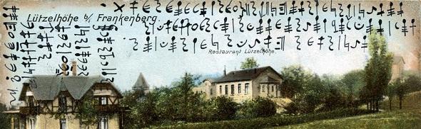 Rückseite Lützelhöhe b.Frankenberg 1905