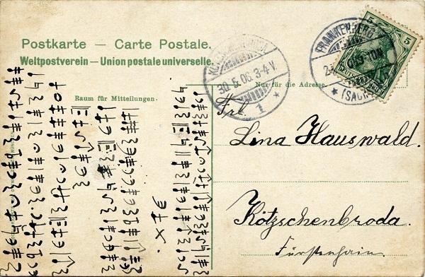 Vorderseite Lützelhöhe b.Frankenberg 1905
