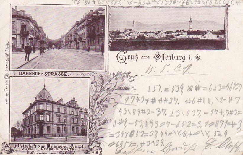 Wer löst diese verschlüsselte Postkarte aus dem Jahr 1901?