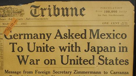Zimmermann-Telegram-Newspaper