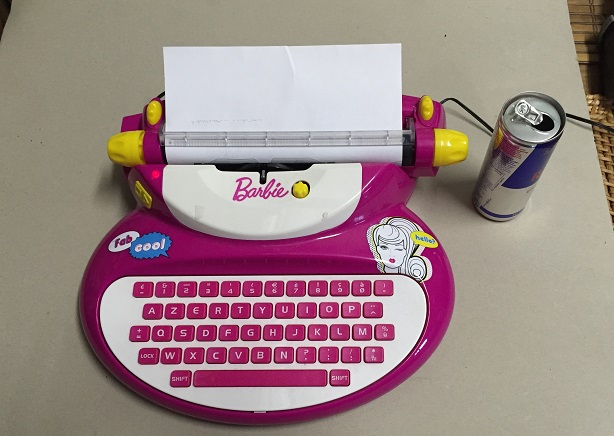 Barbie-Typewriter