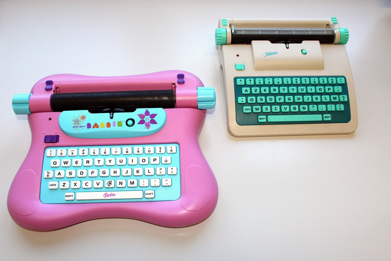 Barbie+Mehano-Typewriter
