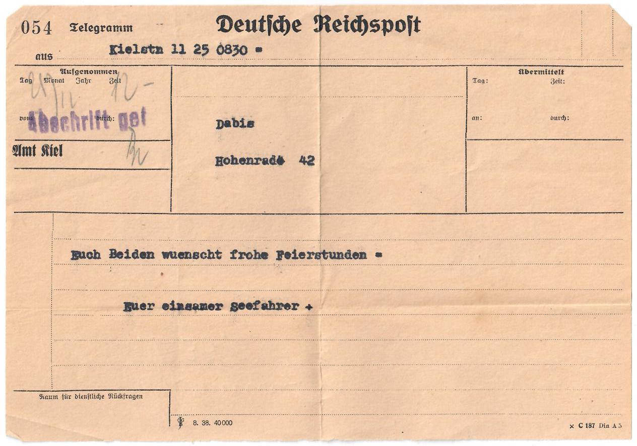 Schleswig-Holstein-1939-Telegram-Weihnachten-1938-Vorderseite
