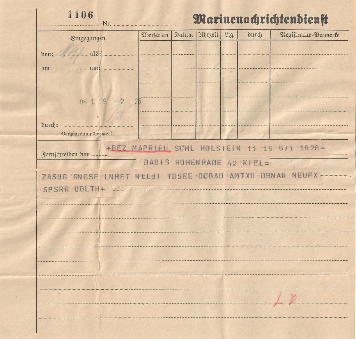 Schleswig-Holstein-Cryptogram