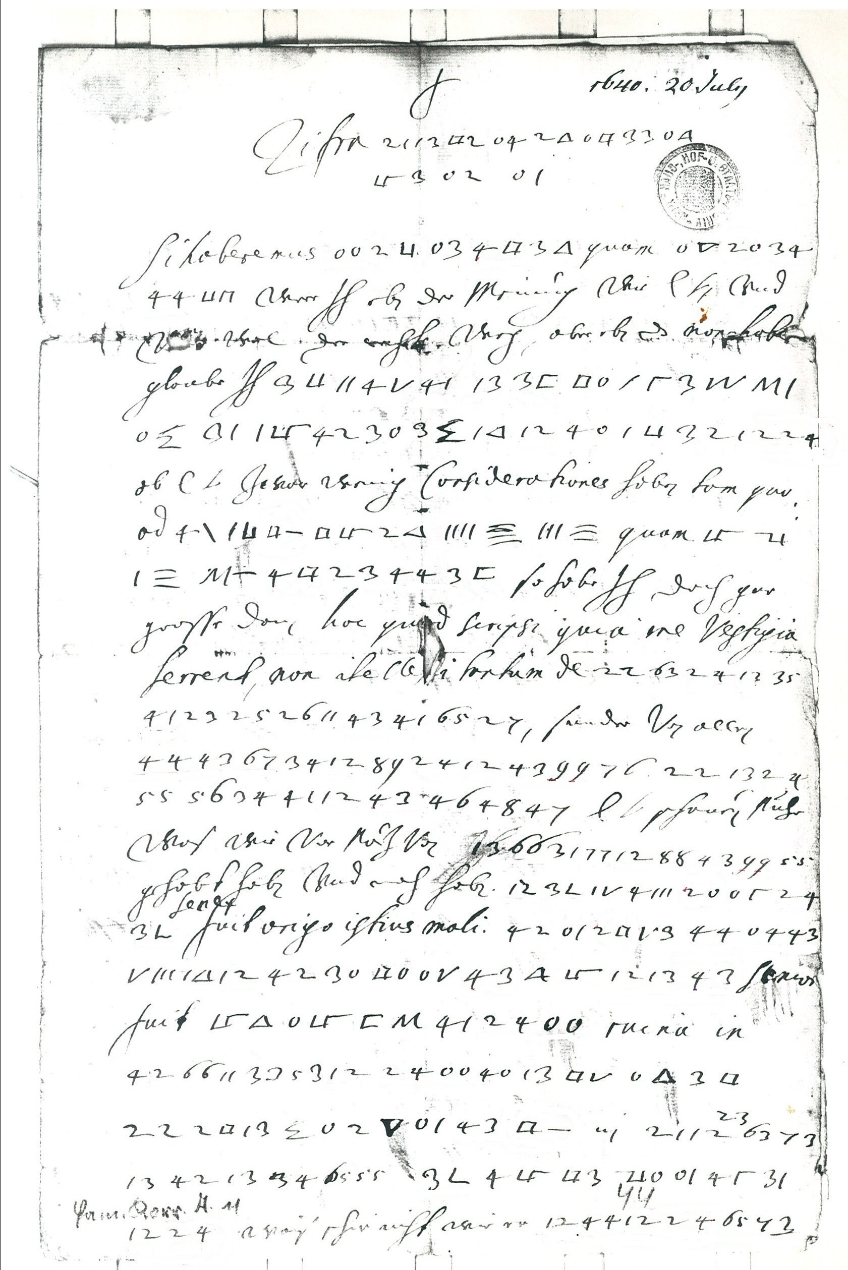 Top 50 crypto mystery solved: Thomas Ernst deciphers Fredinand III's encrypted letters