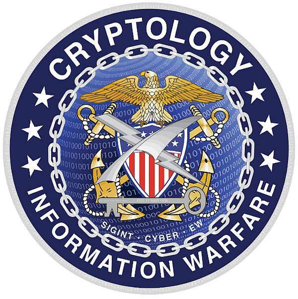 160311-N-ZZ999-510 WASHINGTON (March 11, 2016) The new seal for the Navy cryptologic community released March 11, 2016. The design combines elements linking Navy cryptology's past, present and future; and focusing on their core missions of signals intelligence, cyber warfare, and electronic warfare. (U.S. Navy graphic/Released)