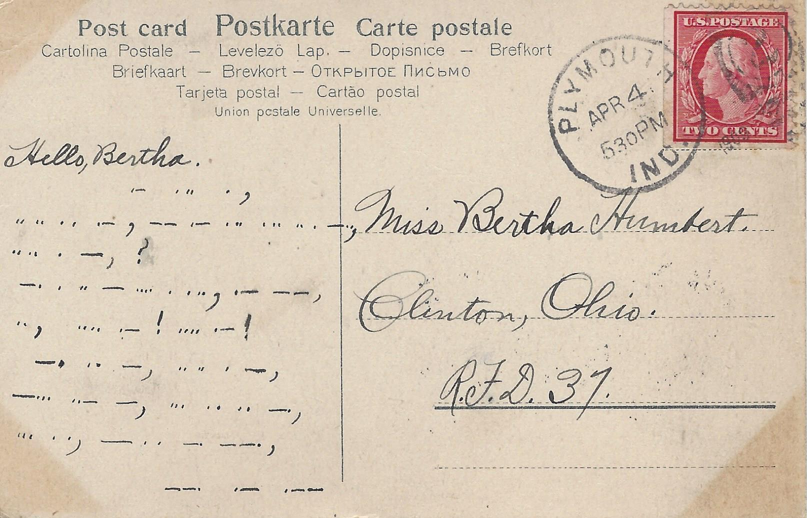 Postcard-Plymouth