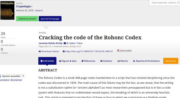 Rohonc-Codex-Solution