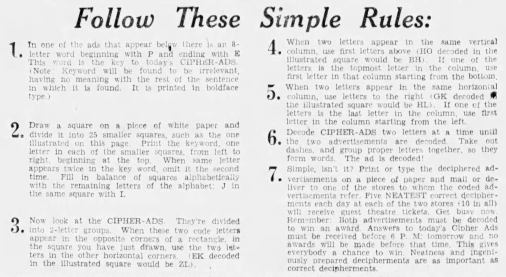 Cipher-Ads--1935-03-04-Rules