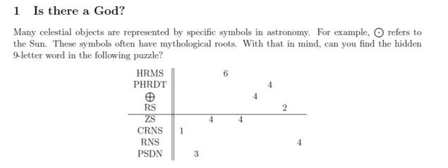 Hawking-Puzzle