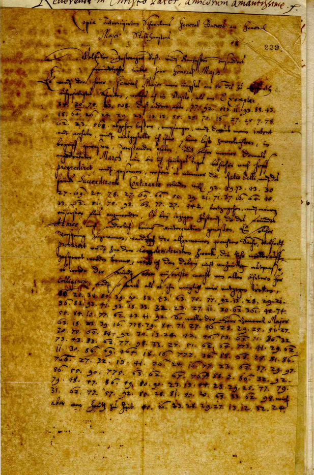An unsolved encrypted letter from the 17th century