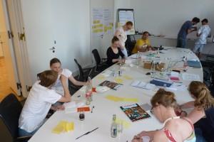 Comic-Workshop zur Künstlichen Fotosynthese: Abstrakte Ideen werden in anschauliche Comics übersetzt (Foto: acatech).