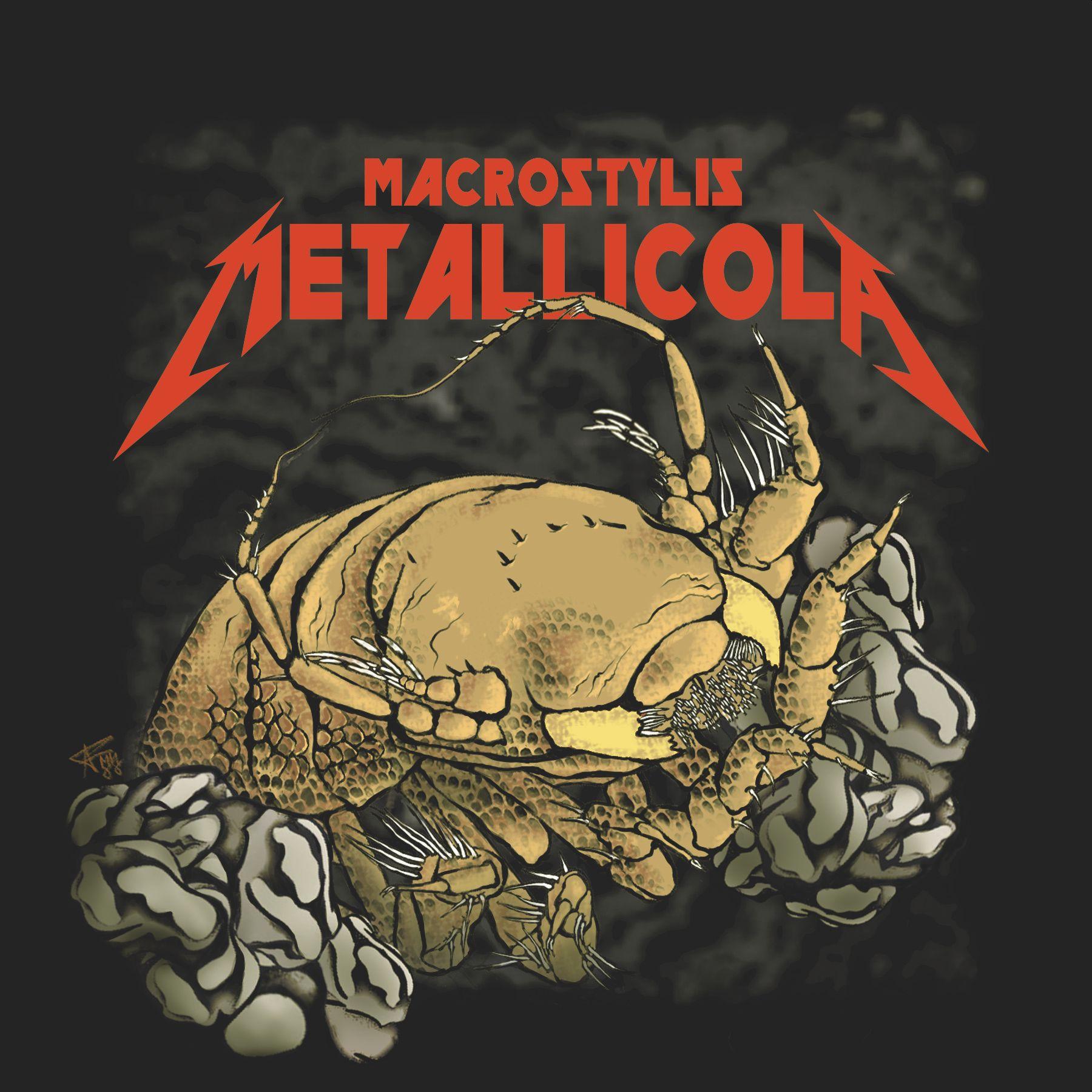 Die Metallica-Assel Macrostylis metallicola als künstlerische Interpretation (C) Senckenberg