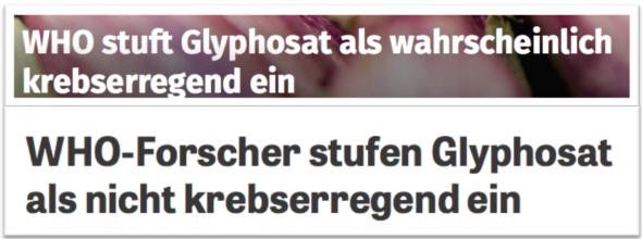WHO stuft Glyphosate ein