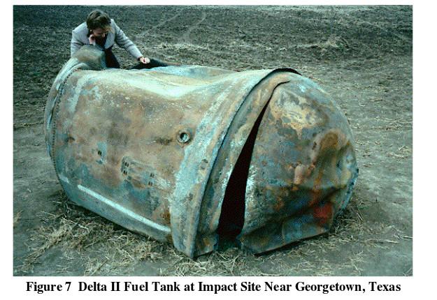 delta ii tank reentry