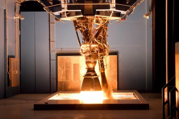 SpaceX_Testing_Merlin_1D_Engine_In_Texas