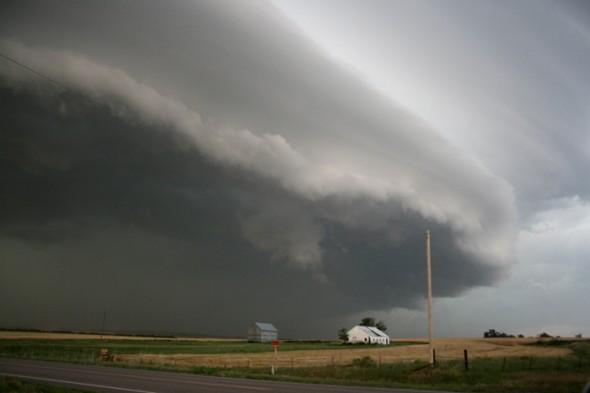 """Foto vom Rand einer """"Superzelle"""" (Gewitterwolke). Quelle: NOAA"""