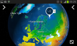 Temperatur am Dienstagmorgen (MeteoEarth App Screenshot)