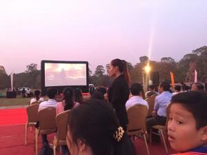 Filmpremiere in Angkor Wat